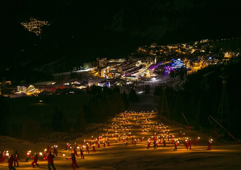Courchevel torchlit descent