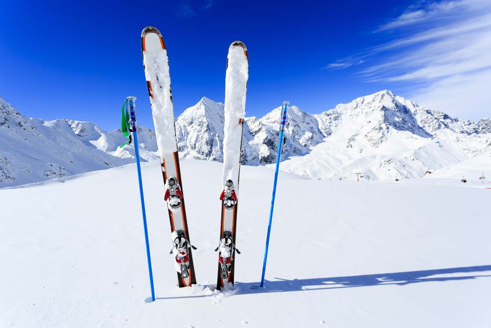Skiing in the 3 valleys
