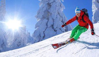 Skiing in La Tania