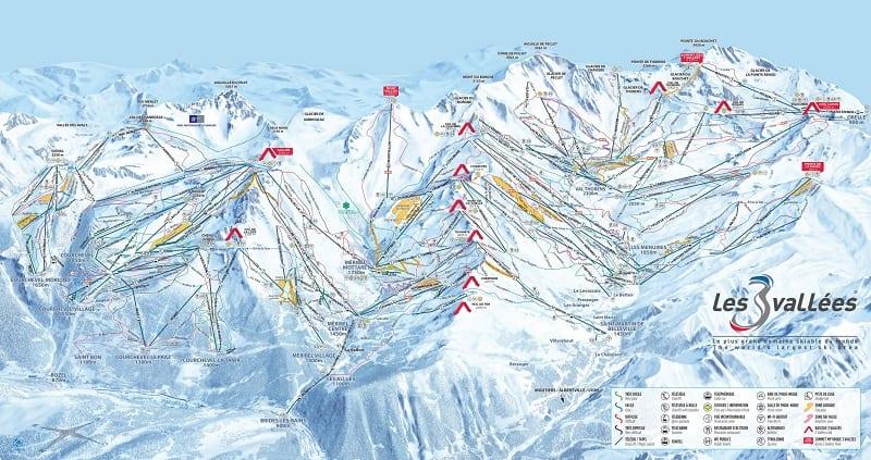 3 Valleys Piste Map 2019