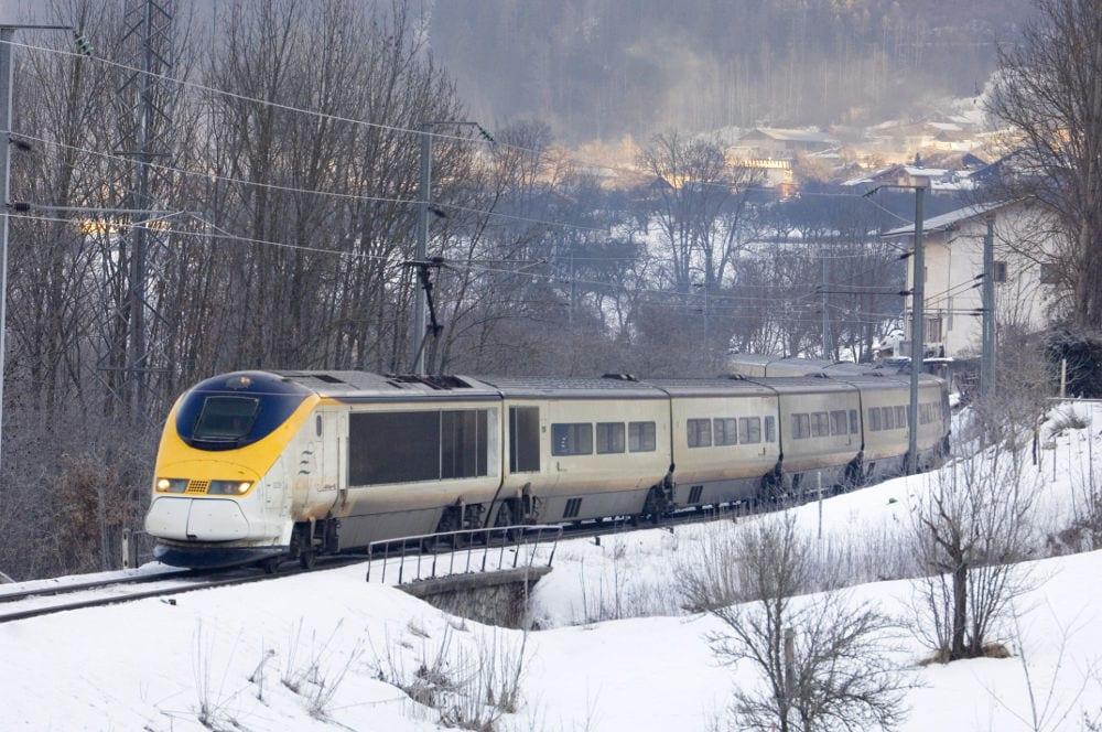 Travelling by Eurostar snow train