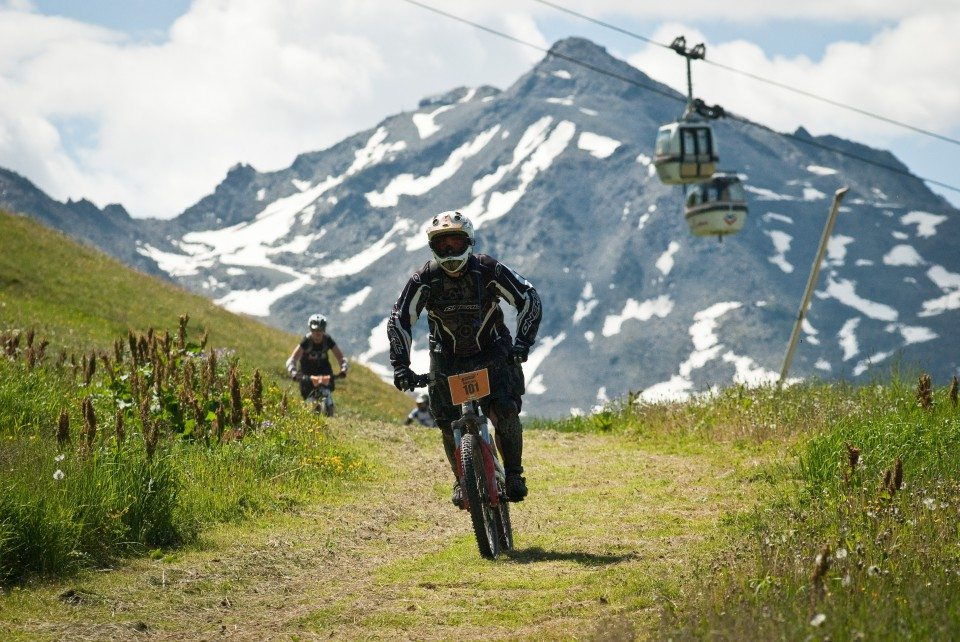 Mountain biking in the Three Valleys Addict Tour