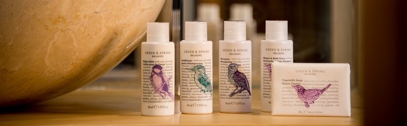 Green and Spring toiletries
