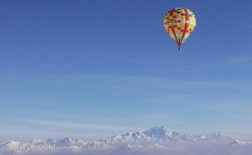 Hot air ballooning courchevel