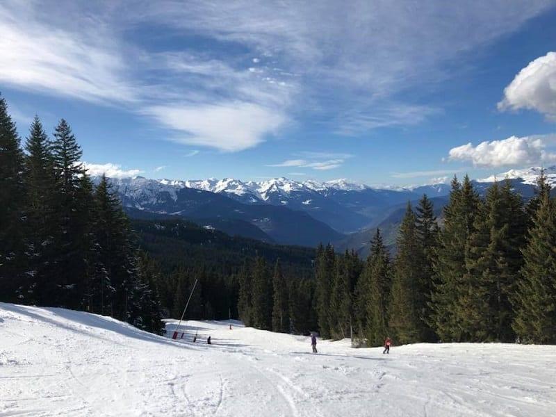 La Tania ski resort in the 3 valleys -Courchevel skiing